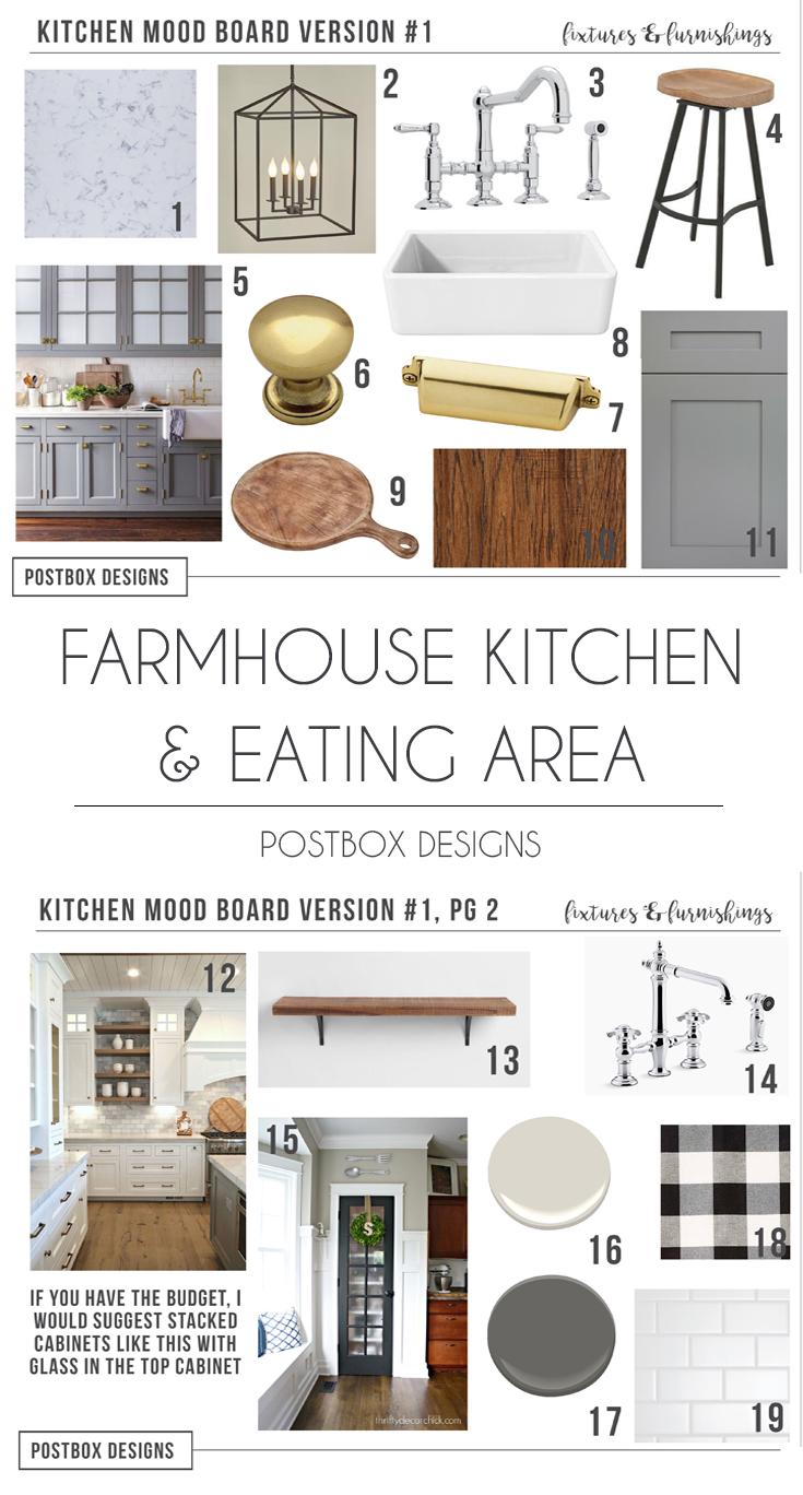 Farmhouse Kitchen Design Farmhouse Dining Room Postbox Designs E Design