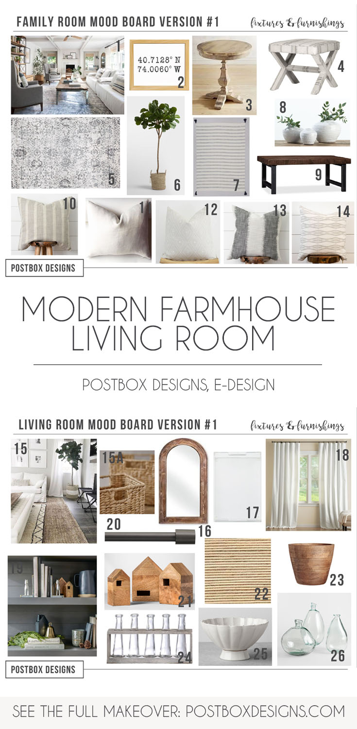 Design Your Own Living Room Free: Modern Farmhouse Living Room Via Online Interior Design