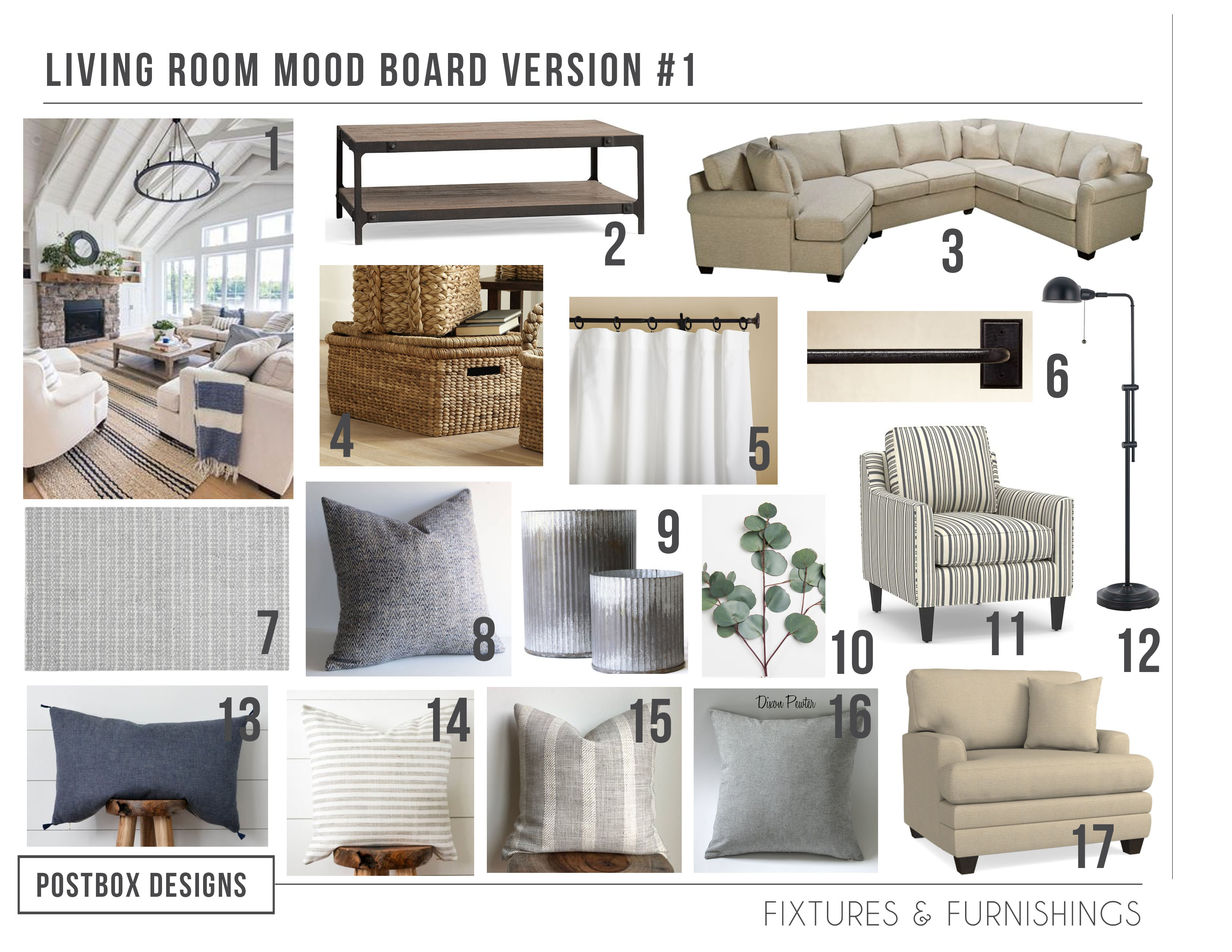 The Cheat Sheet 5 Modern Farmhouse Living Room Must Haves How To Use Them Postbox Designs