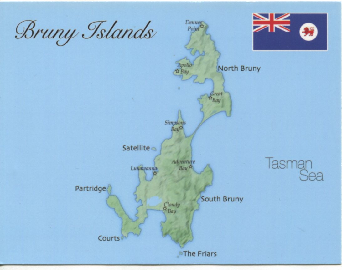 bruny island map