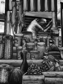 1. Market Traders by Phlegm. Castle House, Sheffield - September 2014