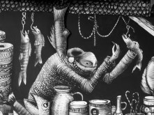 9. Market Traders by Phlegm. Castle House, Sheffield - September 2014