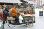 A street fruit vendor. Tournai, Belgium