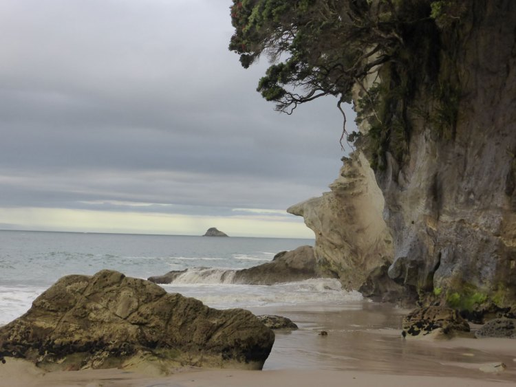 cathedral cove, whitianga, rock, blow holes