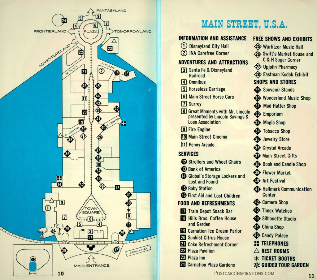 Main Street U.S.A. Your Guide to Disneyland from INA