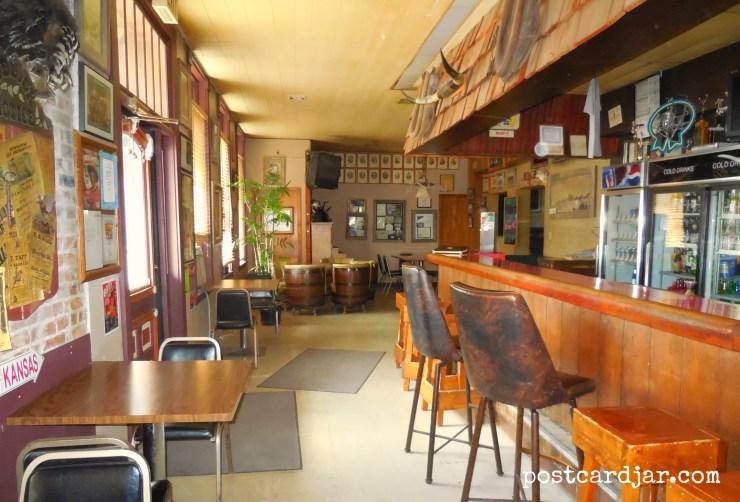 The bar at the Olde Main Street Inn. (Photo by Ann Teget for postcard jar.com)