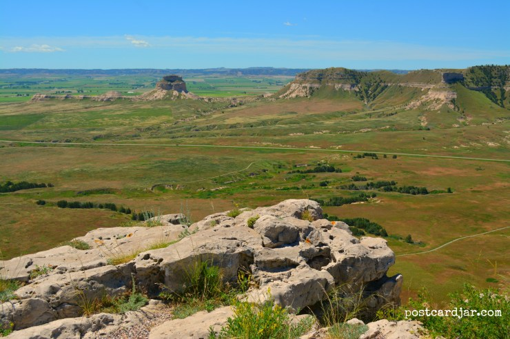 View from the top of the Scottsbluff Monument (Photo by Ann Teget)