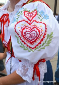 The detailed needle work on all of the Czech dresses was amazing. (Photo by Ann Teget for postcard jar.com)