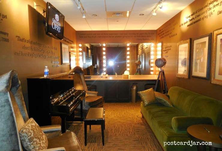 One of the dressing rooms at the Grand Ole Opry.