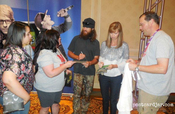Getting autographs from Jase and Missy Robertson. Super sweet people.