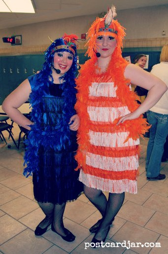 Meghan and Anna in Seussical.