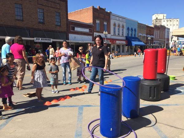 Kids had a blast playing all kinds of games on Main Street.