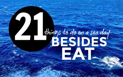 21 things to do on sea days