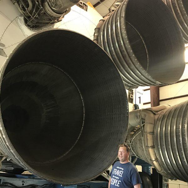 Saturn V rocket engine at the Space Center Houston