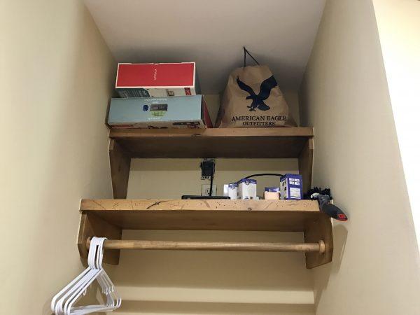 Pioneer Woman's lodge closet shelves