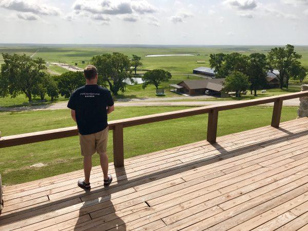 Pioneer Woman's lodge view