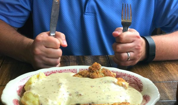 Chicken fried steak at The Pioneer Woman Mercantile