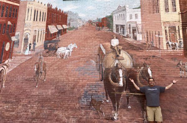 Large mural in downtown Crete, Nebraska
