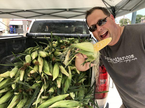 Sweet corn for sale in Crete, Nebraska
