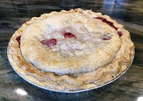 A freshly baked Village Pie Maker pie.