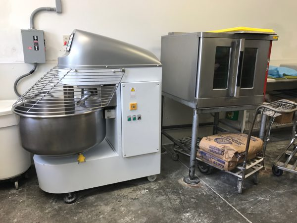Mixing equipment, Village Pie Maker, Eustis, Nebraska