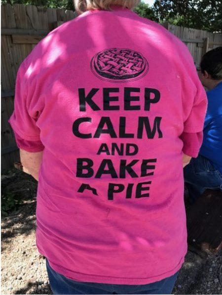 Worker's shirt, Village Pie Maker, Eustis, Nebraska