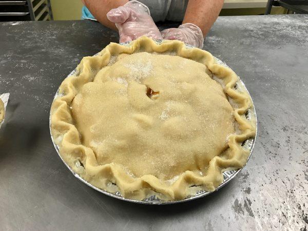 Completed pie, Village Pie Maker, Eustis, Nebraska