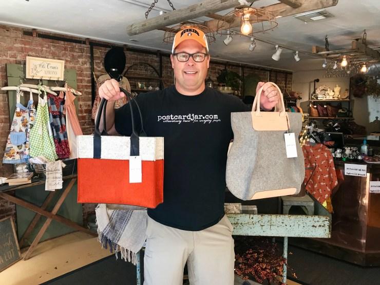 Salt Creek Gallery and Marketplace bags, Pawhuska, Oklahoma