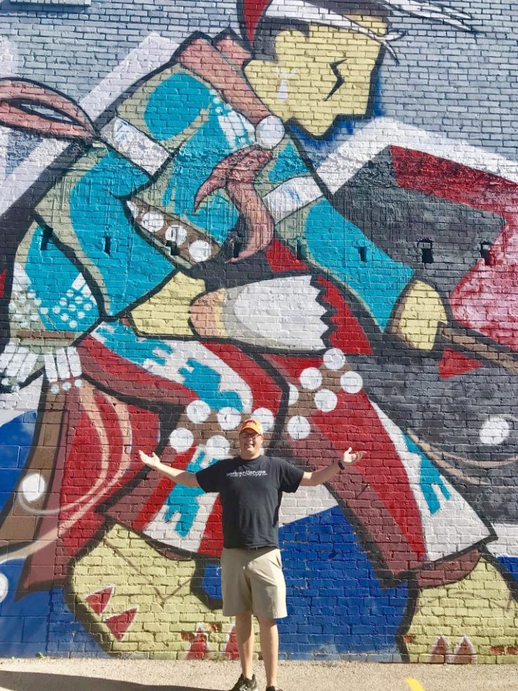 Osage Language Center mural, Pawhuska, Oklahoma