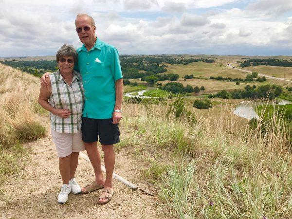 Steve's parents in the Nebraska Sandhills