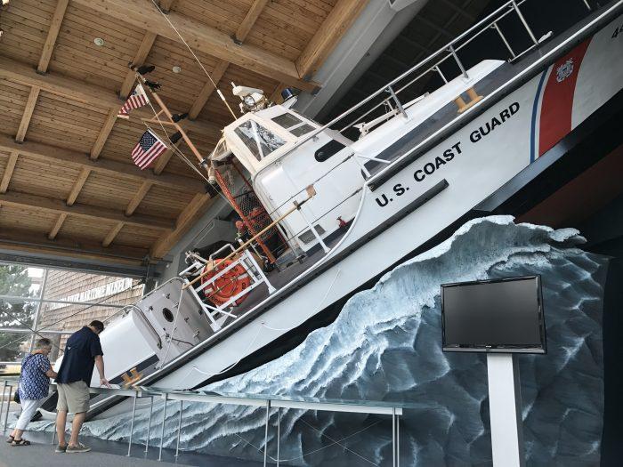 Columbia River Maritime Museum US Coast Guard lifeboat, Astoria Oregon
