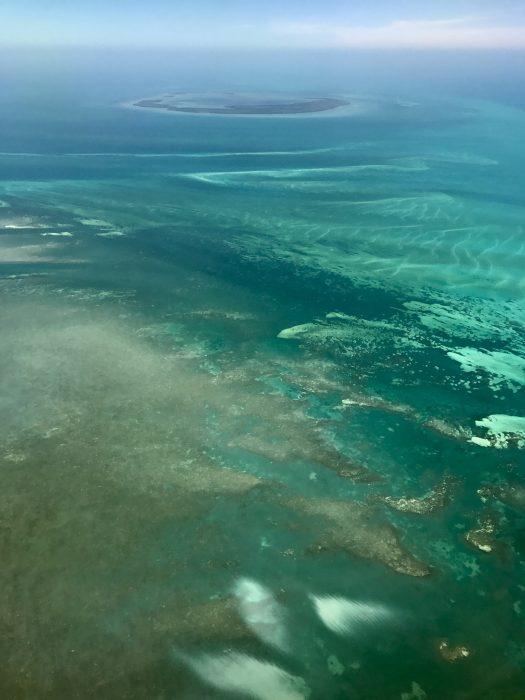 Florida Keys from the air, near Key West, Florida