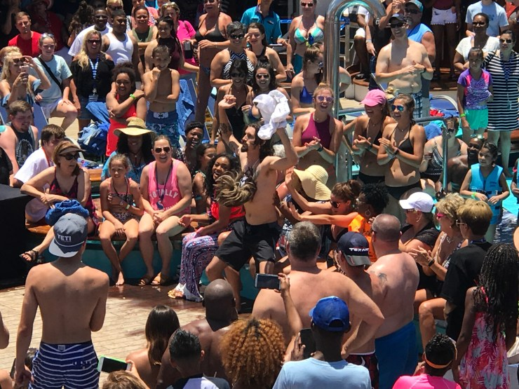 Hairy chest contest on the Carnival Valor