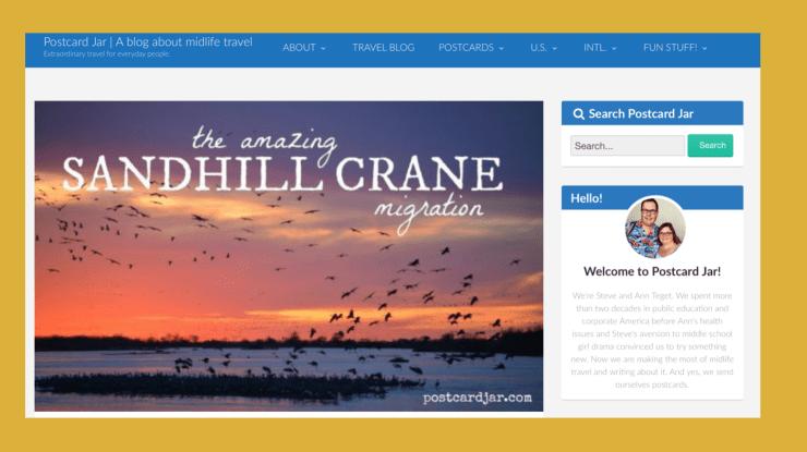 Sandhill crane migration, Nebraska, screenshot