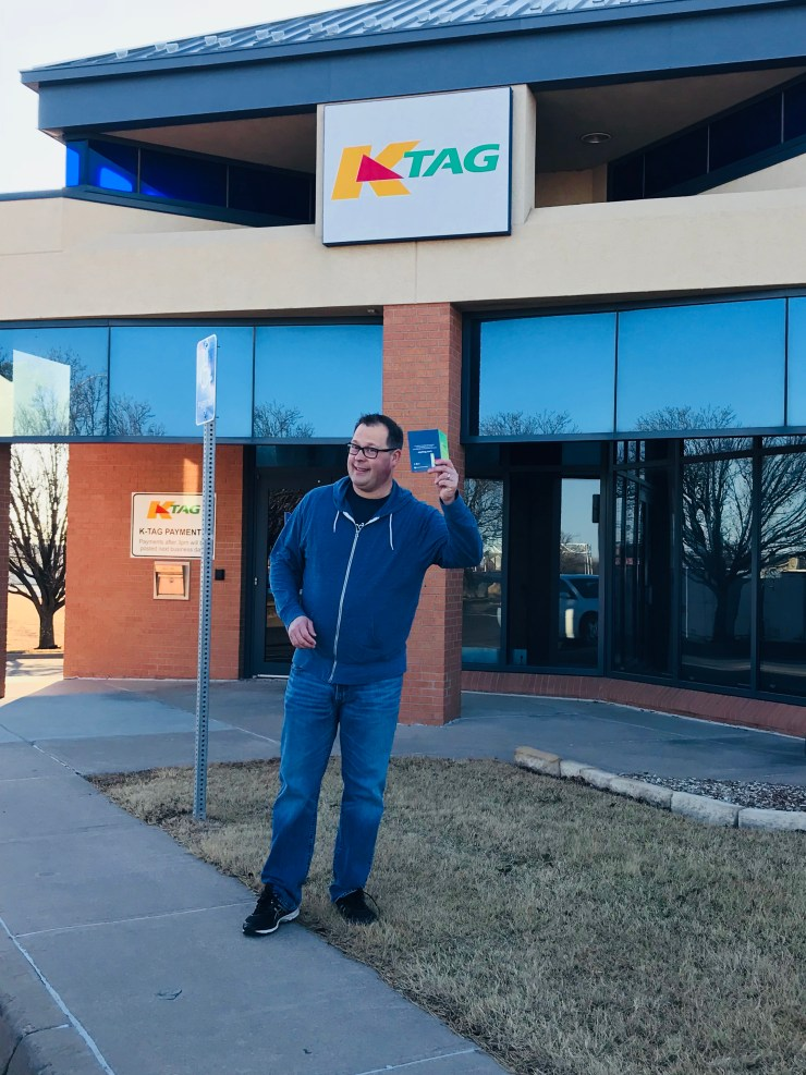 Steve had a great idea to stop and get a K Tag while in Wichita.