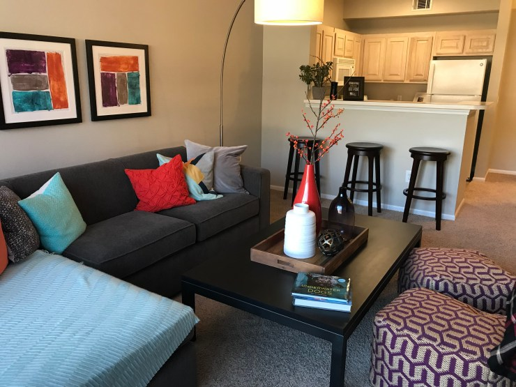 This apartment was beautifully staged, but way out of our price range.