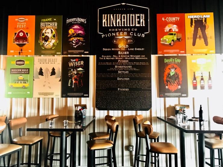 Kinkaider Brewing company taproom, Broken Bow, Nebraska