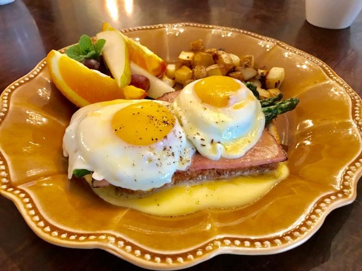 Steven Poe's eggs Benedict was delicious.