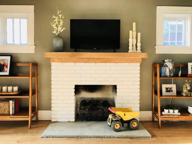Pawhuska house fireplace