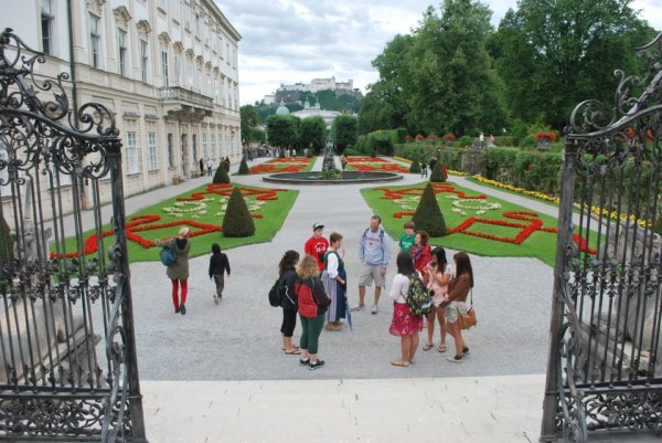 Meghan with her classmates in Salzburg, Austria in 2012.