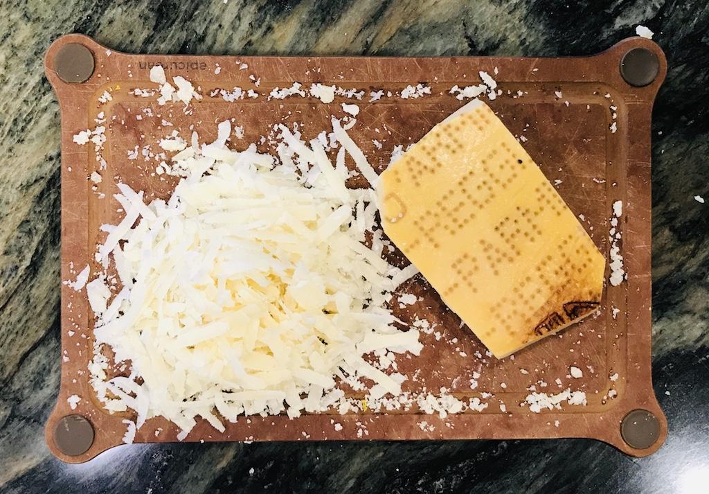 Parmigiano-Reggiano cheese grated