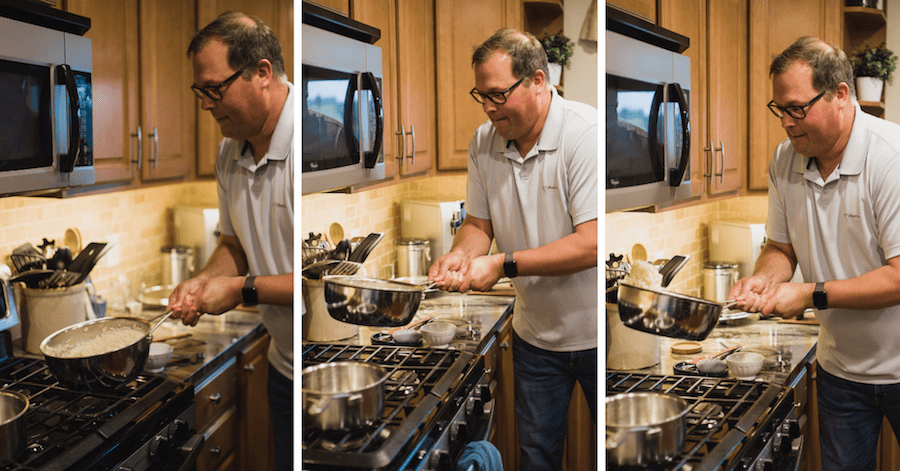 The Chef & The Dish Flipping risotto