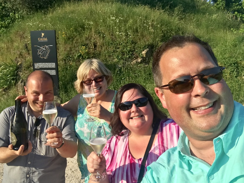 One of our fondest memories of our 2018 trip to Italy was toasting Prosecco with Massi and Deb at Cartizze Hill in Valdobbiadene.