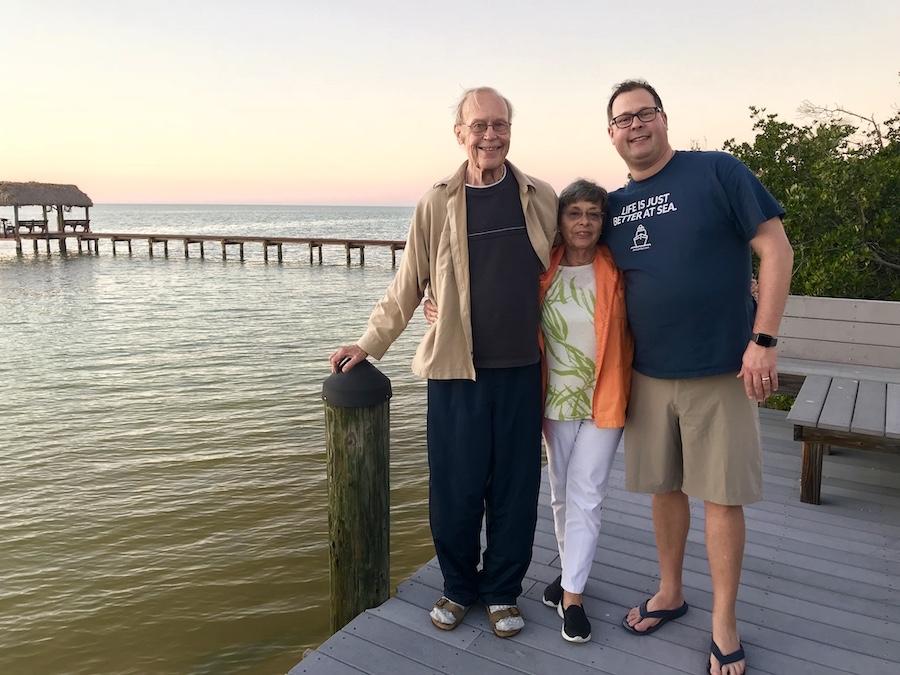 Steve with parents sunset