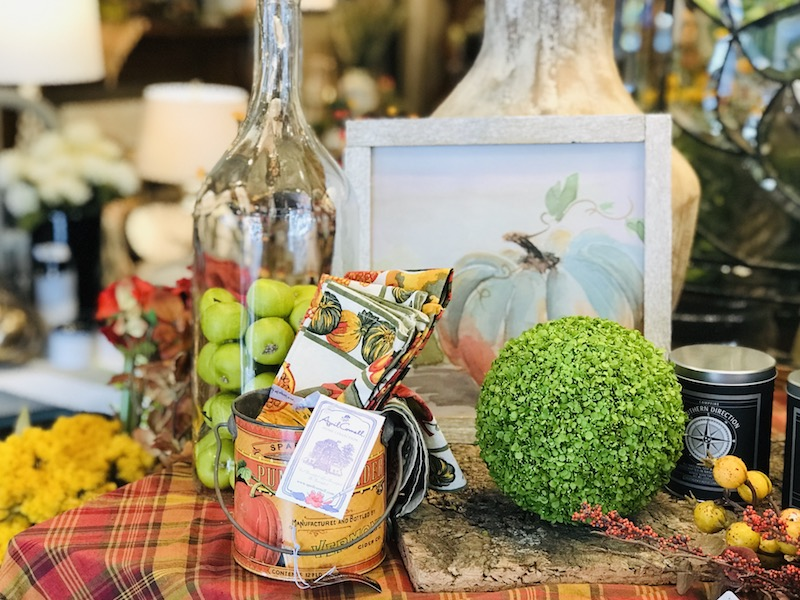 The Red Geranium has beautiful seasonal home decor and fantastic staff to help you find just what you need.