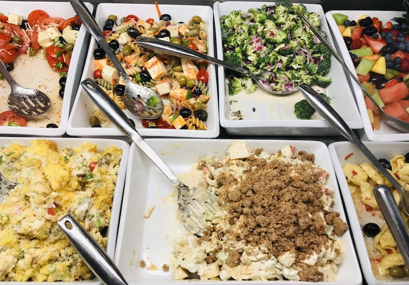 Starboard Market always has a cooler full of unique and delicious salads.