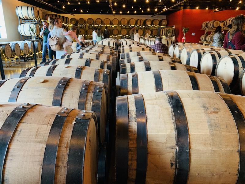 barrels at Rock Town Distillery