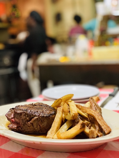 filet at Doe's Eat Place Greenville