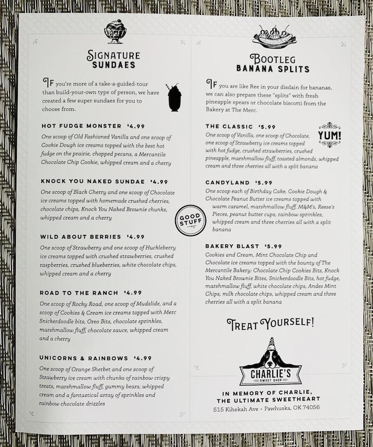 Ree Drummond Charlie's Sweet Shop menu 2