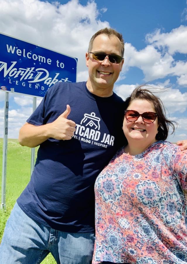 Welcome to North Dakota postcard jar